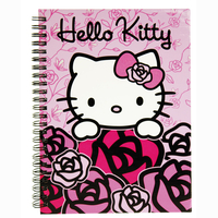 Hello Kitty Pink Roses - spiral notebook A5