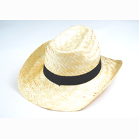 Straw hat, with hatband, 35 x 35 x 13 cm