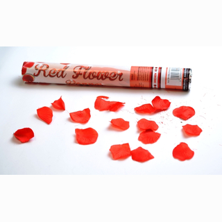 Party Popper, large confetti, red flowers, 40 cm