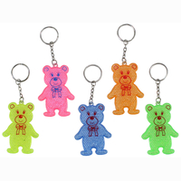 Reflective bear on keychain