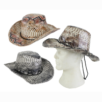 Cowboy hat, snake look, 3 assorted, Ø 20 cm SPECIAL PRICE...