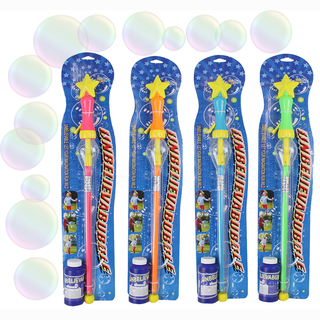 Bubble sword including 110 ml fluid, 4 assorted, on card, 53 cm SPECIAL PRICE - DISCONTINUING SALE