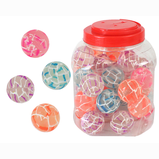 Bouncing ball, 4 assorted, 40 pieces in tube, Ø 38 mm