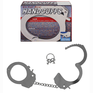 Metal handcuff, in box, with safety lock, Ø 7 cm