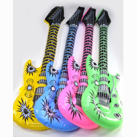 Inflatable guitar, 3 assorted colours, 100 cm SPECIAL...