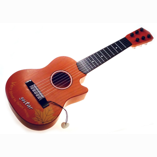 Guitar with 6 strings, in box, 54 cm