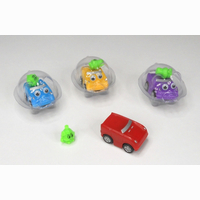 Magnetic car, start only possible with magnetic figure, 4...