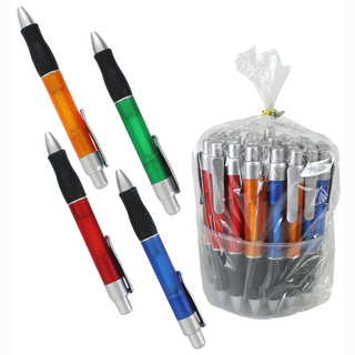 Ball pen, 4 assorted, 36 pieces in tube, 13,5 cm