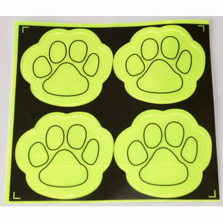 Sticker, reflection paw, 4 pieces in bag, 14 x 14 cm