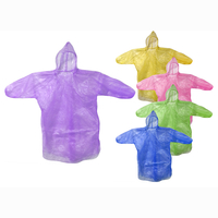 Poncho for kids, 3 assorted, in bag