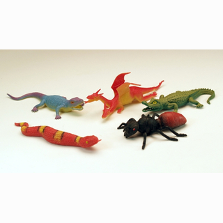 Stretchable animals, 12 assorted, 12 pieces in bag, 10 cm