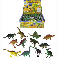Dinosaurs, 12 assorted, 96 pieces in display, 14 cm
