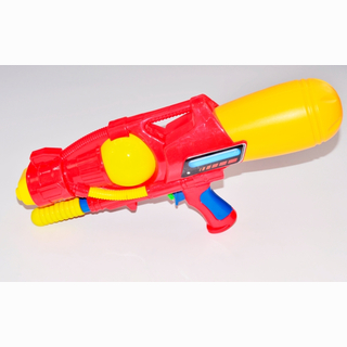 Water gun with 2 way outs, 2 assorted, in bag, 41 cm
