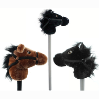 Hobby horse 2 colors assorted - ca 75cm