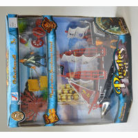 Pirate set, with boat and accessories, in box, 32 x 29 x...